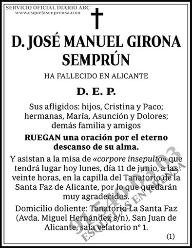 José Manuel Girona Semprún